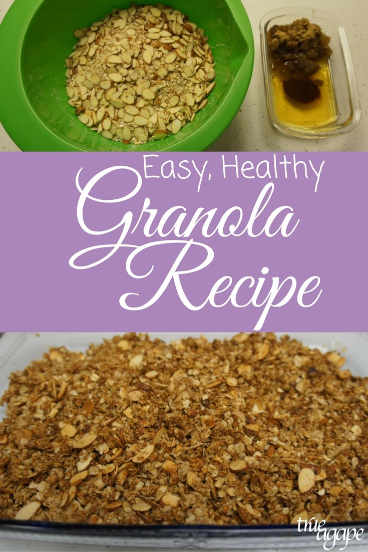 Easy to make at home granola and it's healthy!