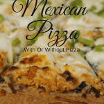 We love this Mexican Pizza because it is great with or without the chicken. If you want a no meat option simply leave off the chicken and do the rest of the recipe the same.