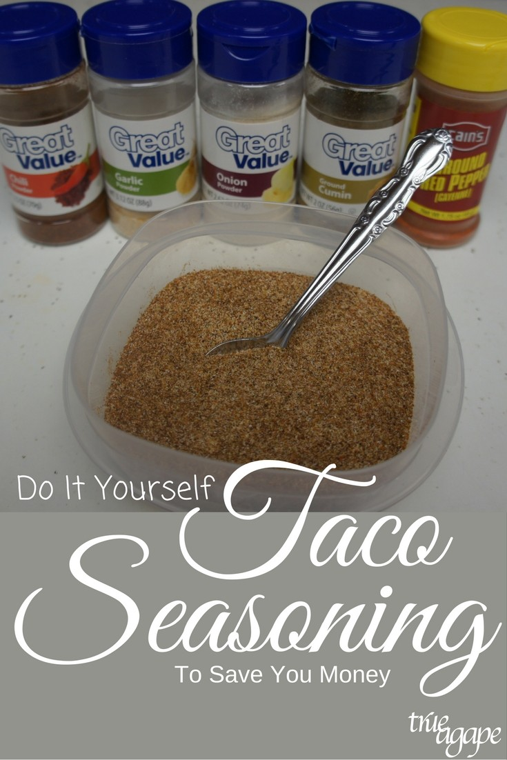 Do it yourself taco seasoning can actually end up saving you quite a bit of money!