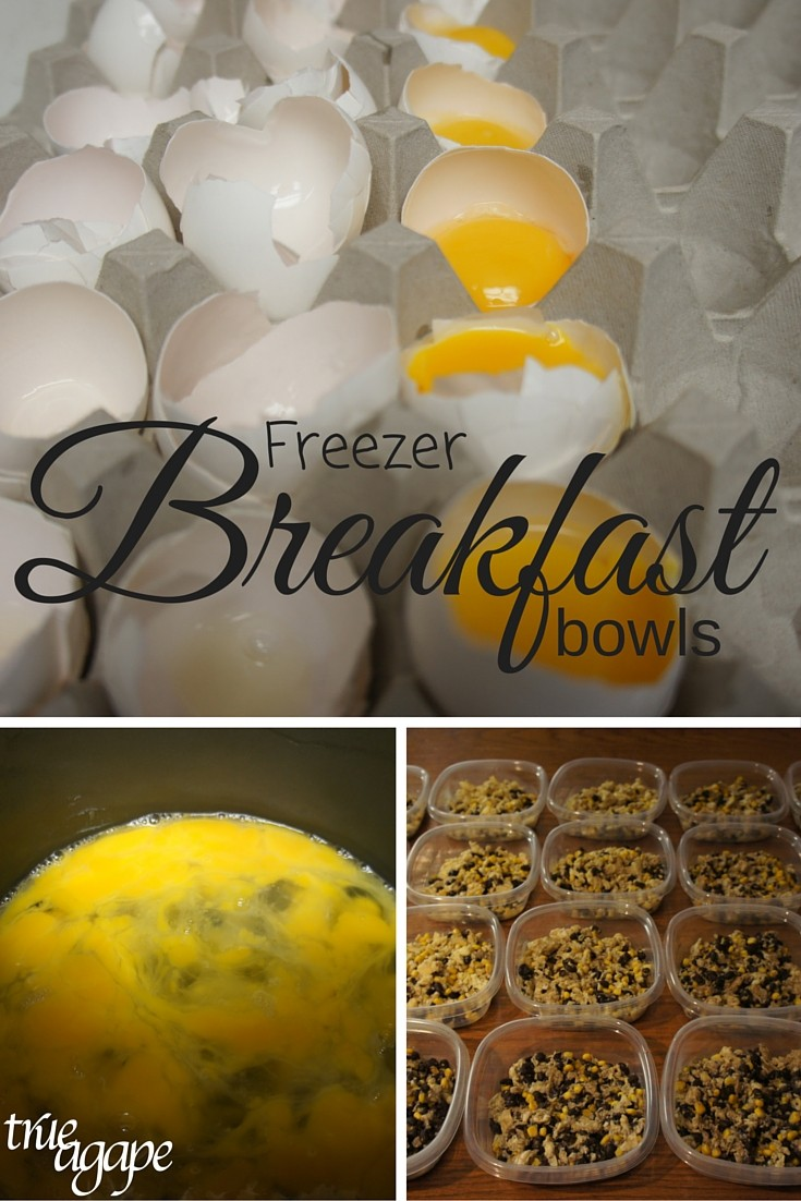 Fast and easy to make freezer breakfast bowls! They are nutritious too!