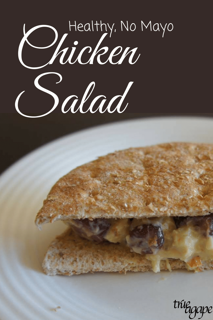 Chicken salad can be healthy! This recipe uses an alternative so there is no mayo. And it still tastes great!