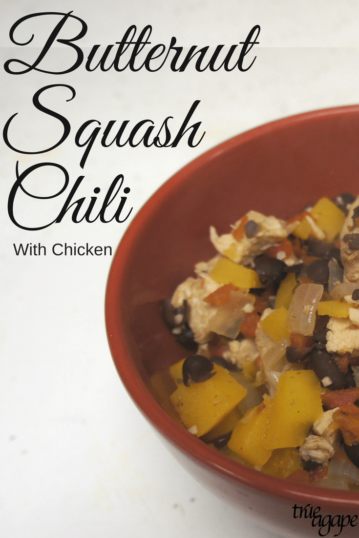 This Butternut Squash Chili recipe will warm you up when the weather is cold. It is a hearty chili packed with protein and natural carbs.