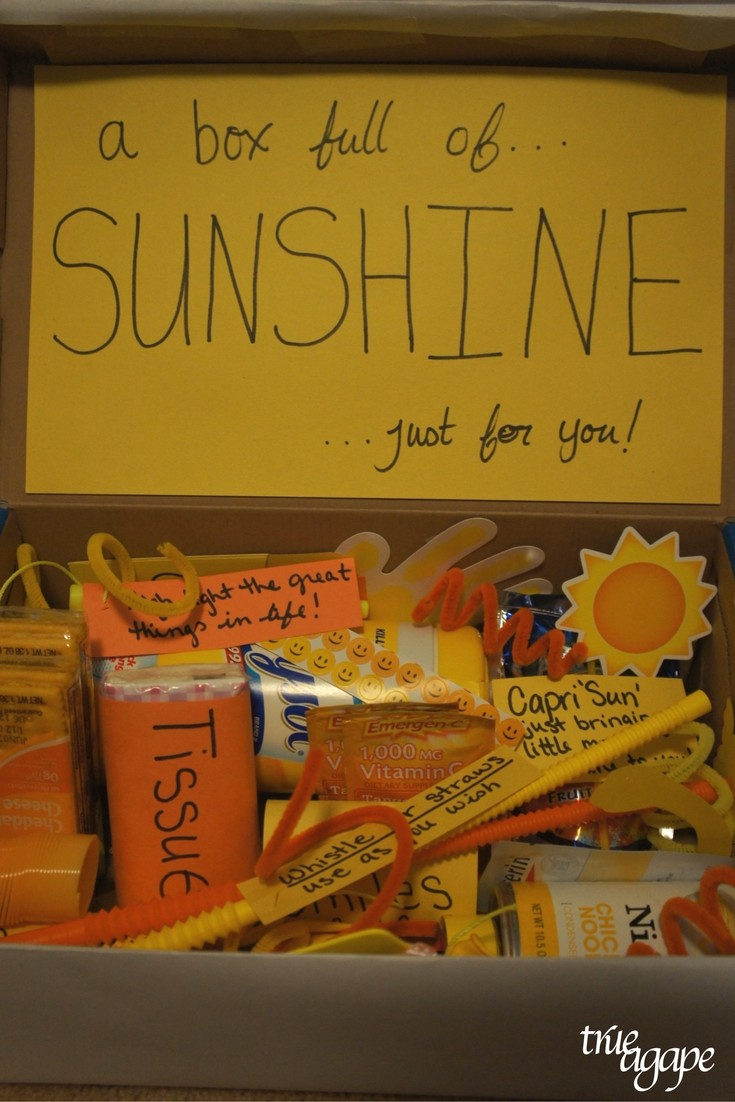 Your man been sick? Make him feel better with this box full of sunshine!