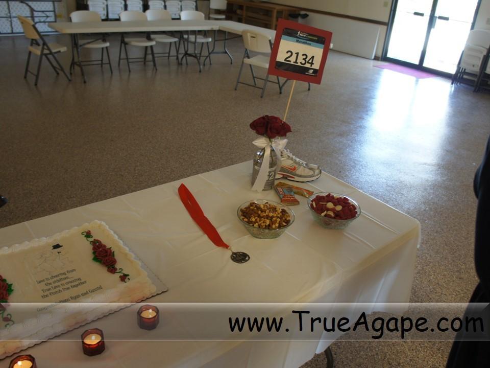 running theme wedding decorations