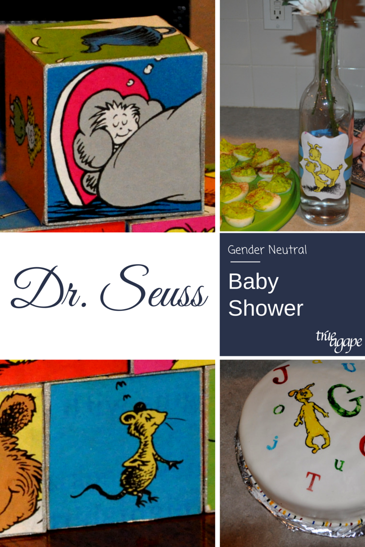 Dr Seuss baby shower decorations made primarily all with one used book!