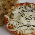 Quinoa Stuffed Tomatoes are a great recipe to get some veggies in without having them as just a side item. It also makes the quinoa pretty tasty. So put your two sides- veggies and quinoa- together to make this yummy recipe!