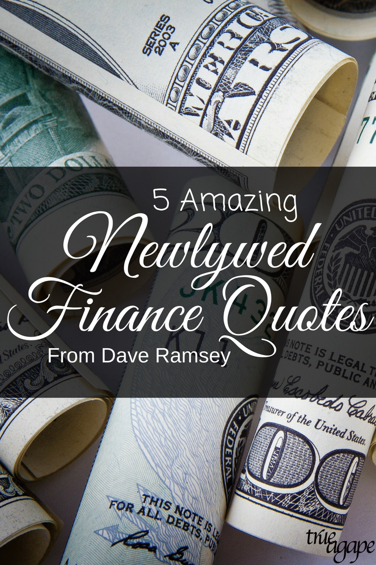 If you are looking for some newlywed financial advice who better to get it from than Dave Ramsey.