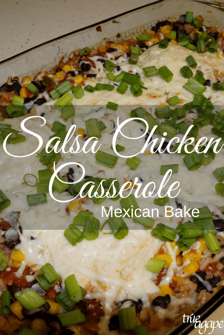 Salsa Chicken Casserole Mexican Bake is a good way to change up the casserole that you have been having. It's an easy way to make something Mexican that is a bit different as well.