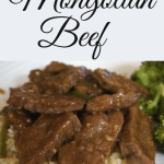 Mongolian beef recipe that goes great served with rice and broccoli. Change things up by serving it with fried rice.