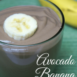This avocado banana chocolate smoothie satisfies the sweet cravings and is as smooth as a milk shake!