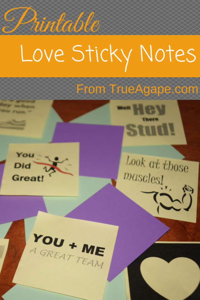 Love sticky notes graphic