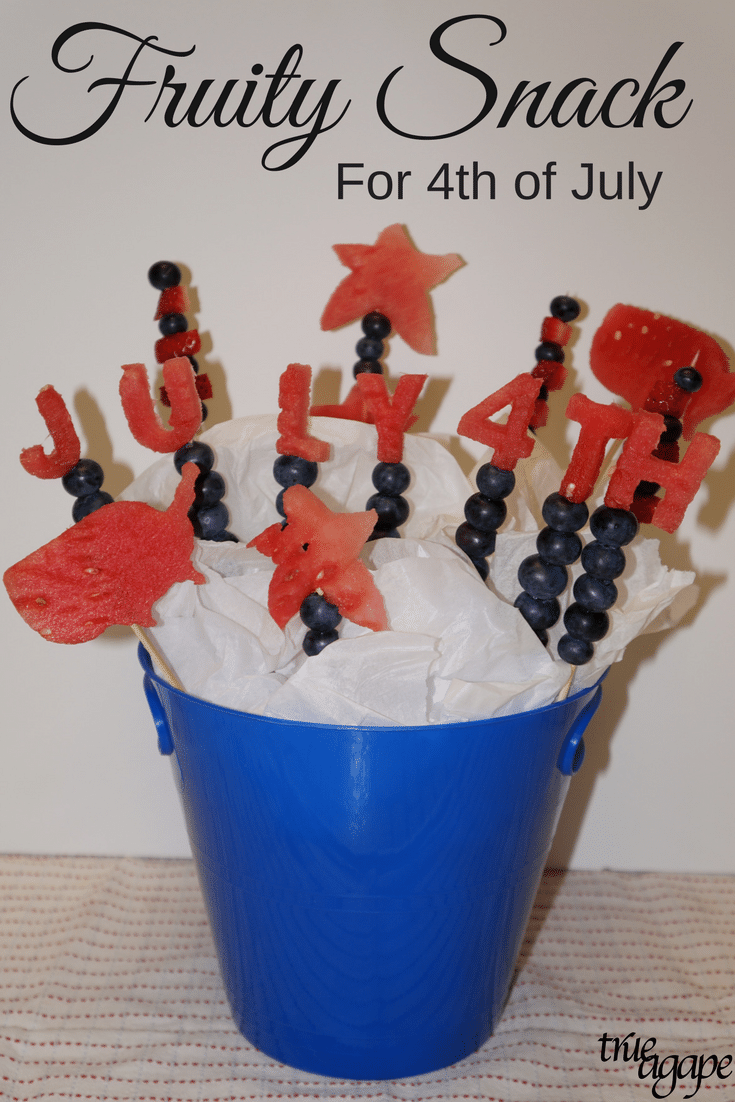 Bring this sweet fruit filled treat to your 4th of July get together. Healthy snacks can be fun too!