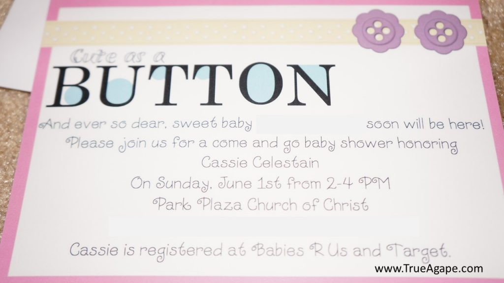 Cute as a Button Baby Shower | True Agape