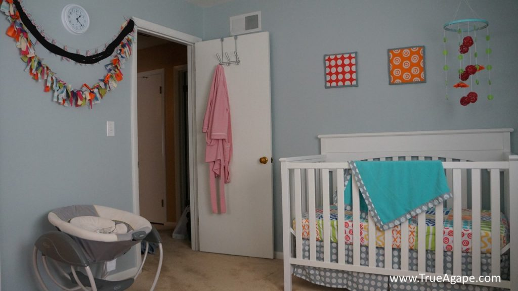 Colorful and Bright Baby Girl Nursery