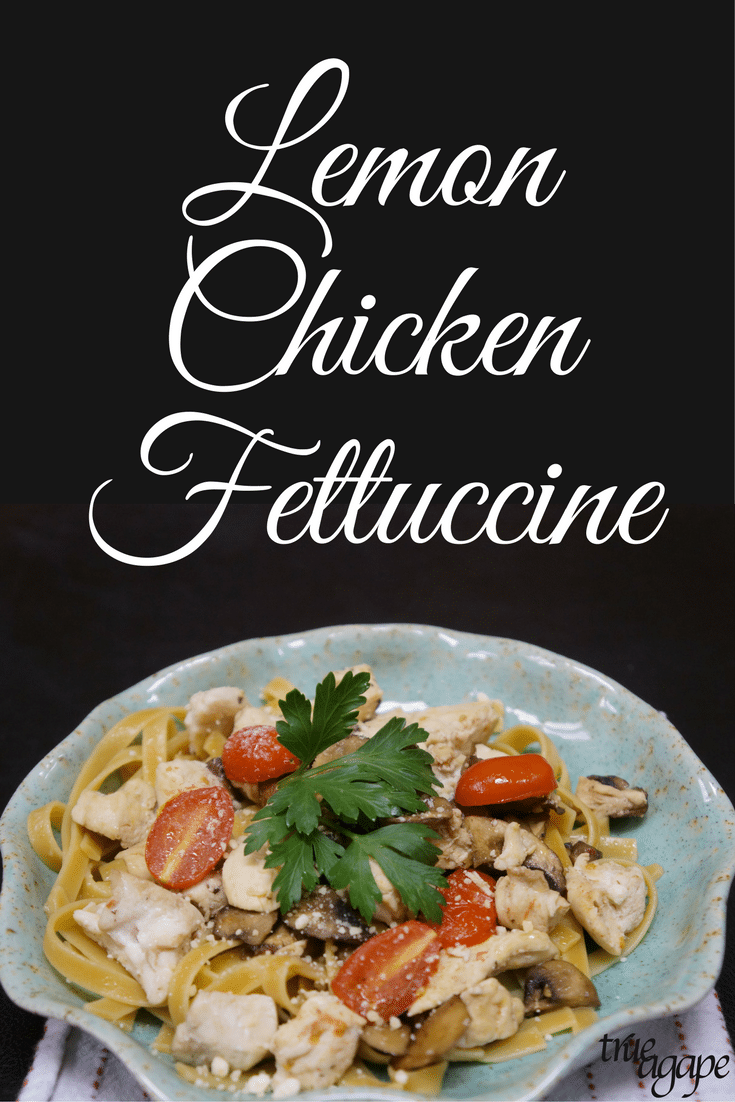 This lemon chicken fettuccine pasta dish gives you the carbs you are craving but leaves out all that extra junk that often comes with creamy sauces.