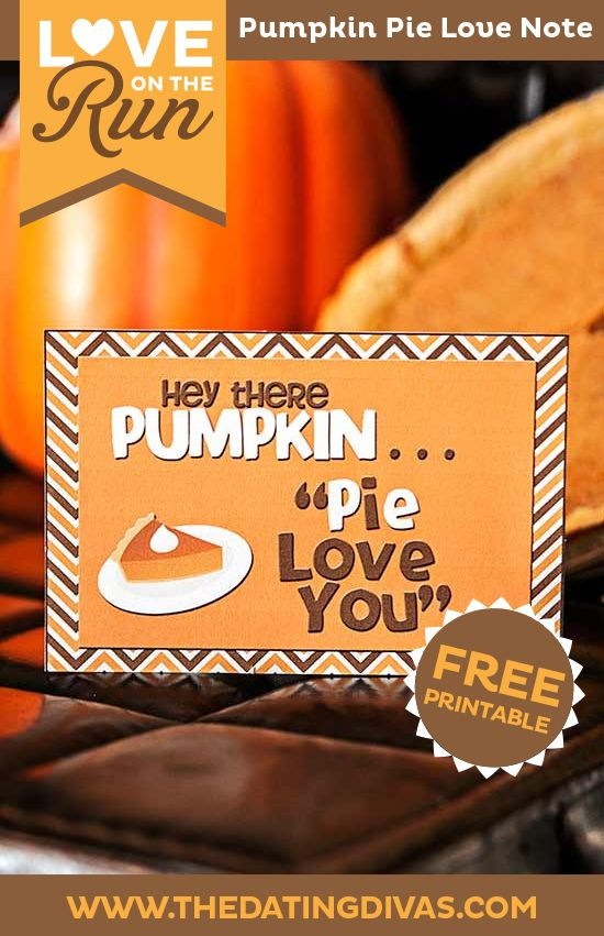 Pumpkin pie love notes