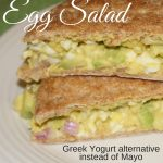 An easy, fast and healthy avocado and egg salad using Greek yogurt instead of mayo