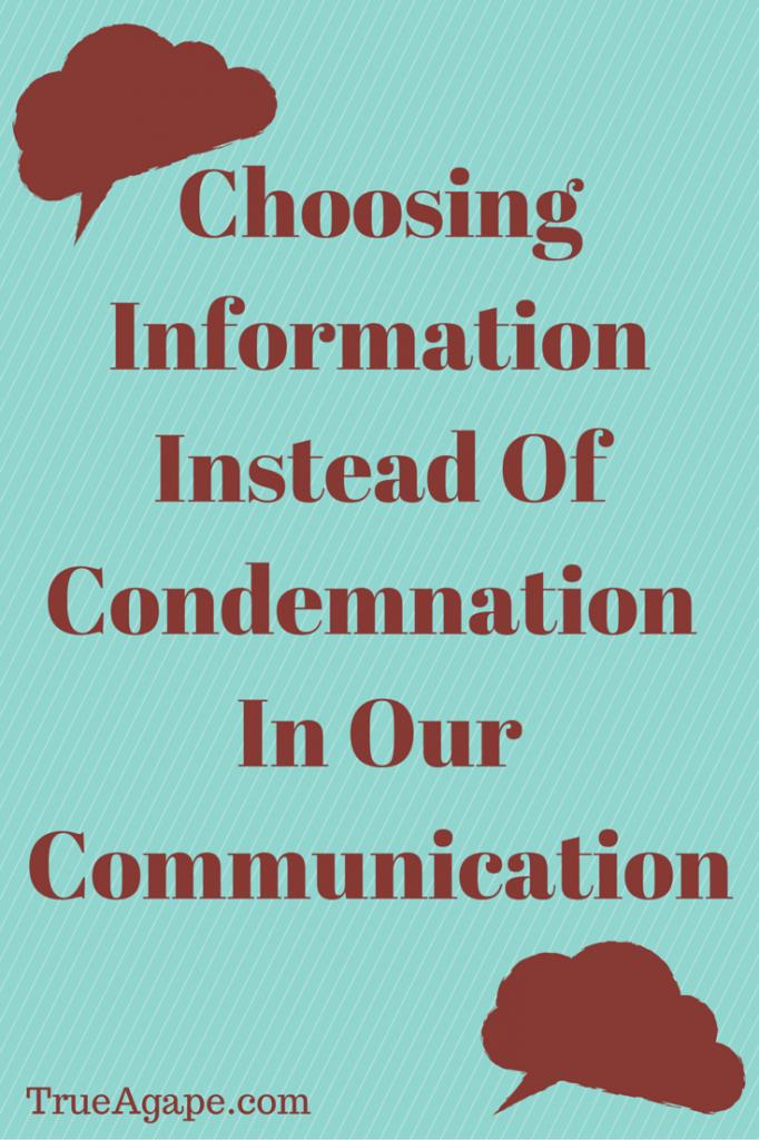 Choosing Information Instead Of