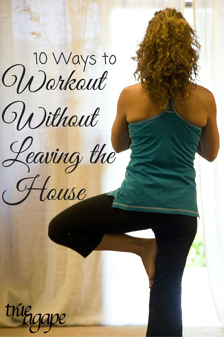Stuck in the house with little ones or because it is too cold to get out, but need to get a workout in? Don't worry we have 10 workouts that you can do without leaving your house!