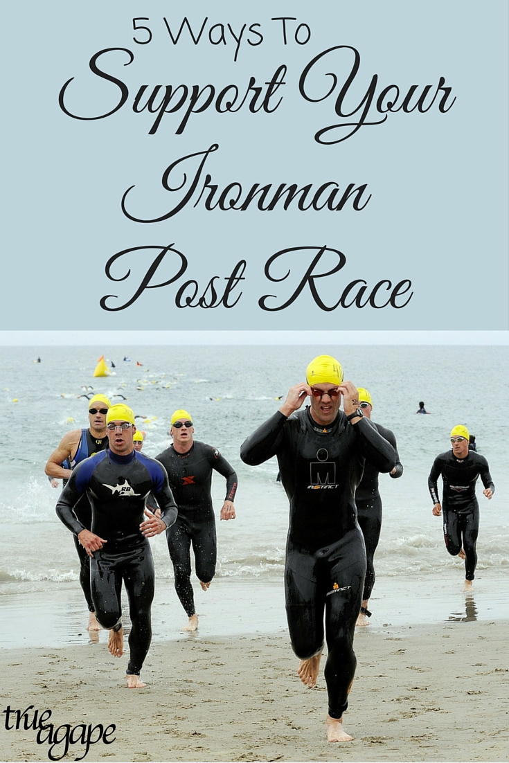 Supporting your Ironman post race is just as important as leading up to the race!