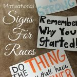Motivational Signs for Races