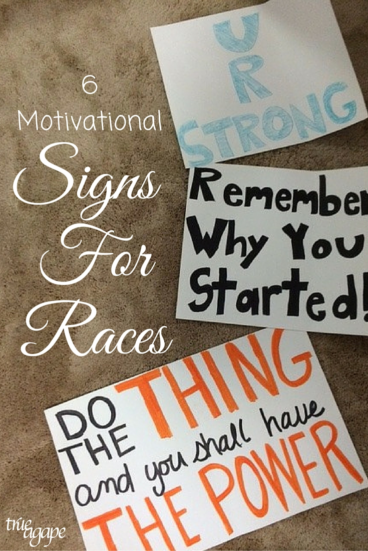 If you are spectating at a race you might want to bring some signs to encourage your athlete. Here are 6 motivational signs for runners or triathletes!