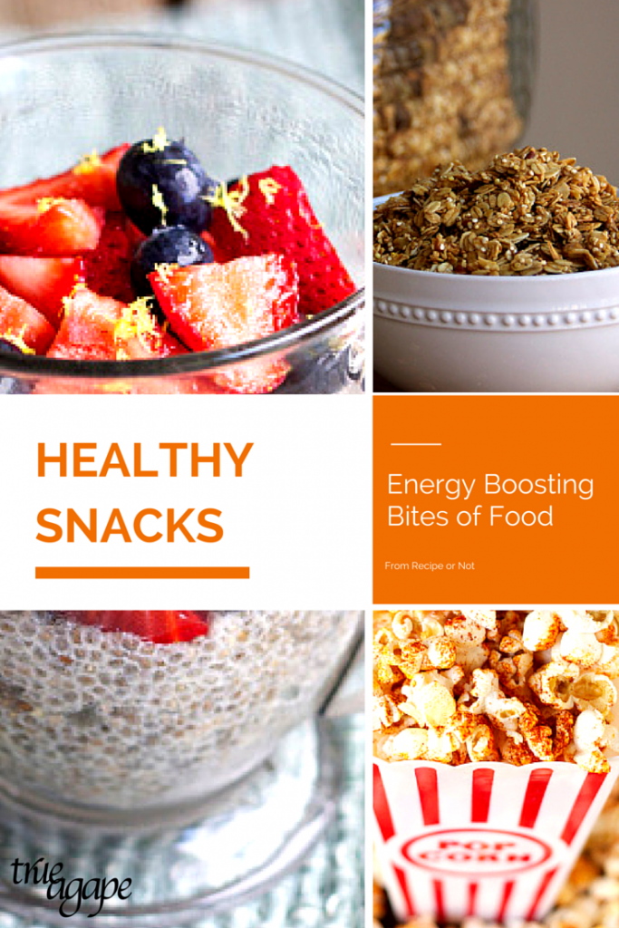 6 Healthy snacks that will help boost your energy.