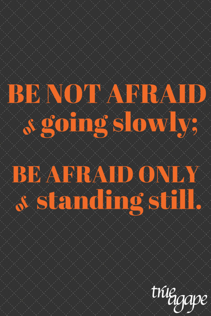 Be not afriad of going slowly| Motivational life quote