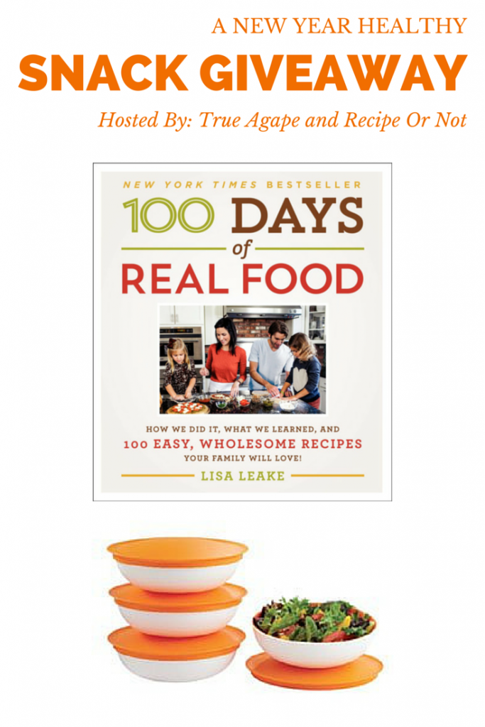 Cookbook and Tupperware containers up for grabs!