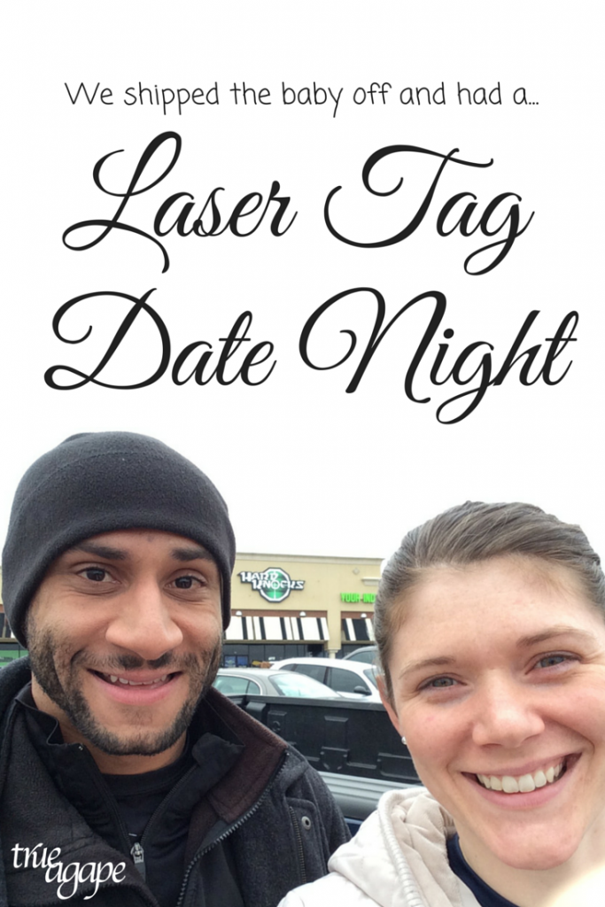 We shipped the baby off so we could have a date night. Fun date idea!