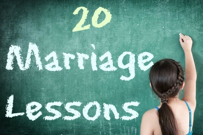 20 lessons from the first year of marriage