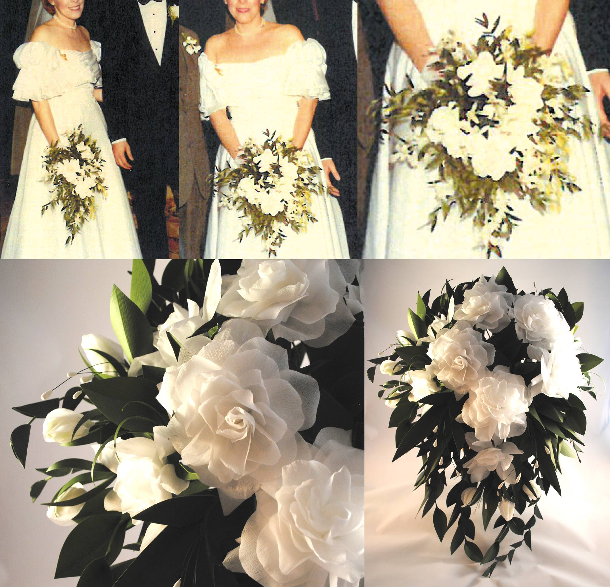 Best gift for her: Recreating her flower bouquet from her wedding, but these will never die! Made from fine paper from an amazing artist!