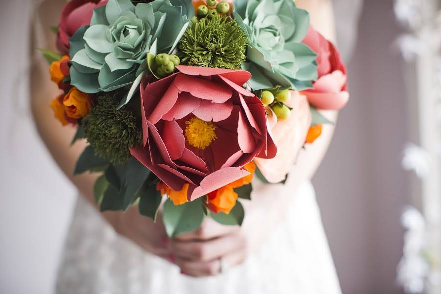 Best gift for her- Recreate her wedding bouquet that will never die! Made out of fine paper by an amazing artist!