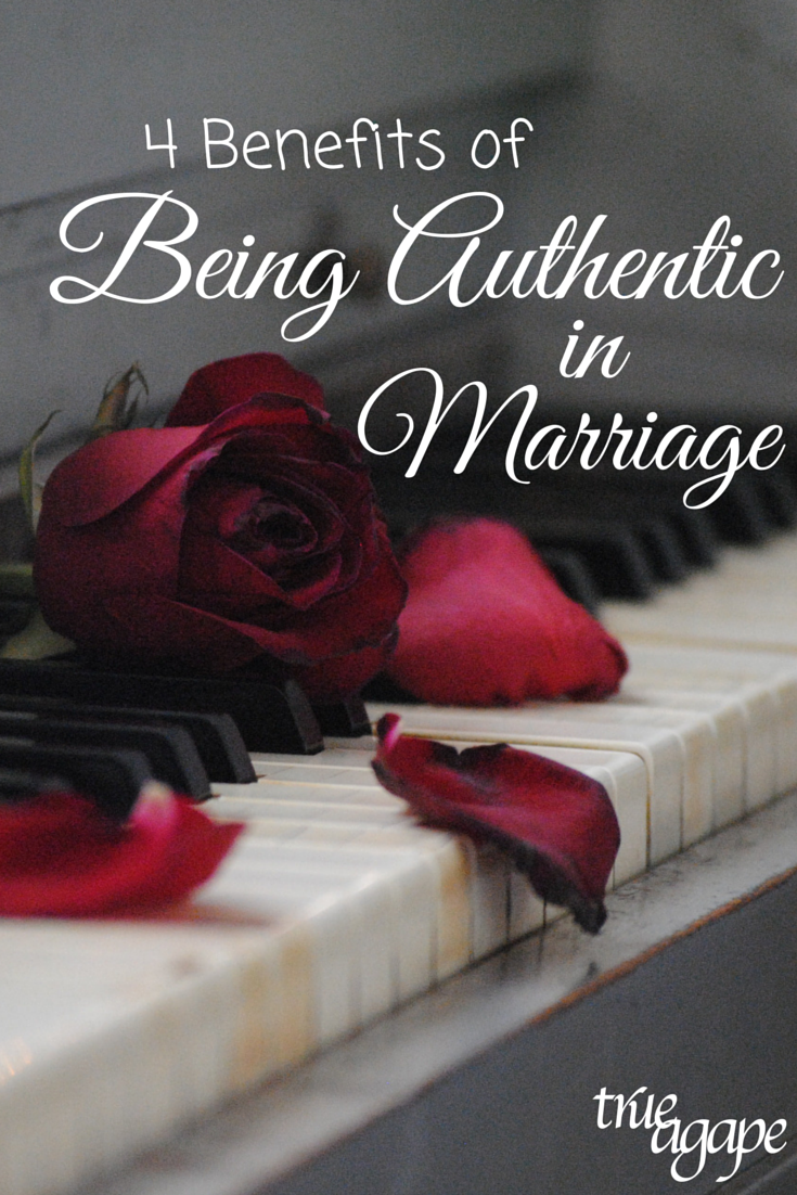 It sometimes is hard to be 100% authentic in our marriages, but it is something we should try to do more often.