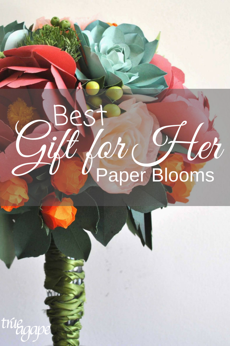 One of a kind gifts for her. Flowers and succulents made out of fine and imported papers. The artist makes these one of a kind gifts that will last forever!
