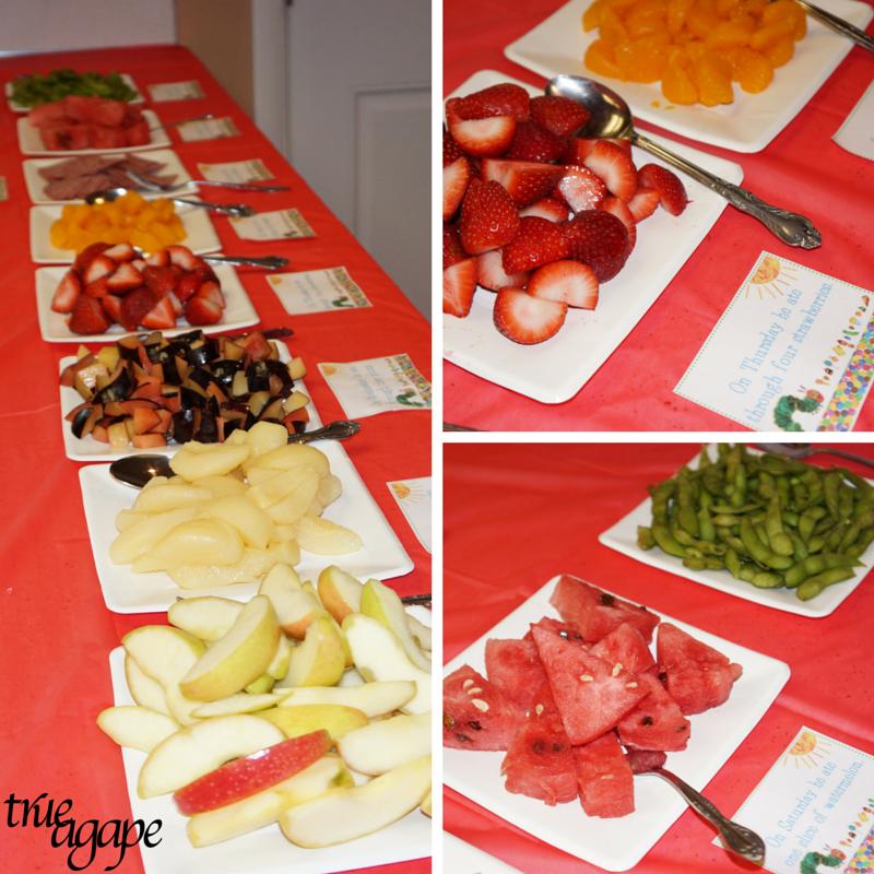 Fruit bar for hungry caterpillar themed birthday