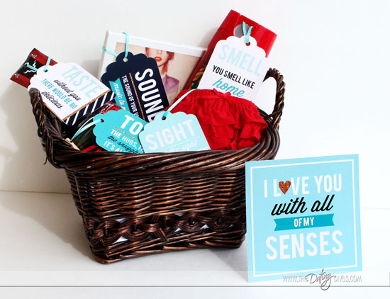 You and your man both will love this gift that uses all 5 senses!
