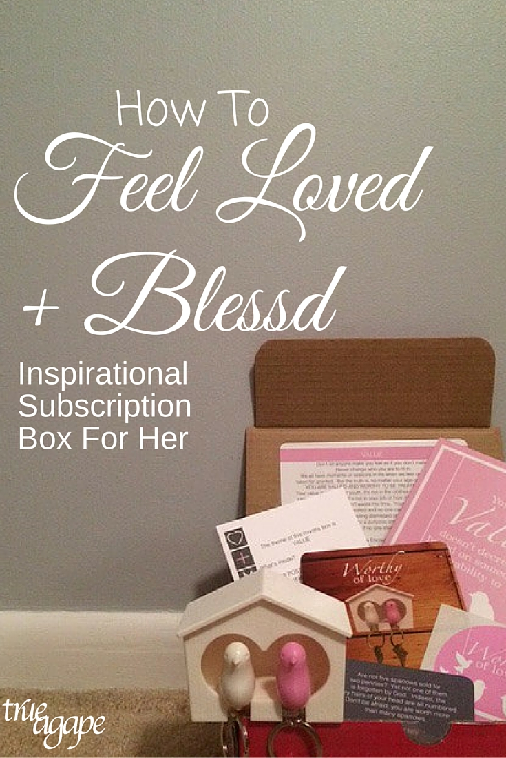 A Christian subscription box that supports women to feel loved and blessed!