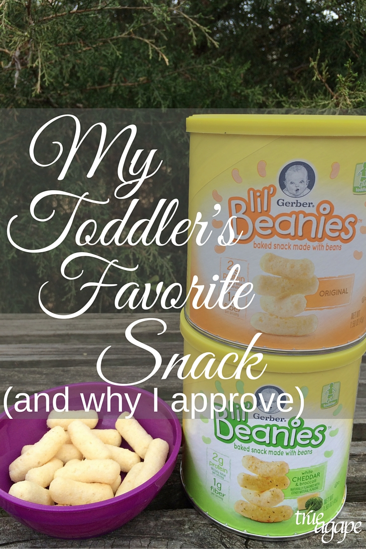 My toddlers favorite snack and why I approve: Made with white beans and rice flour. No GMO's, preservatives, artificial colors or flavors.