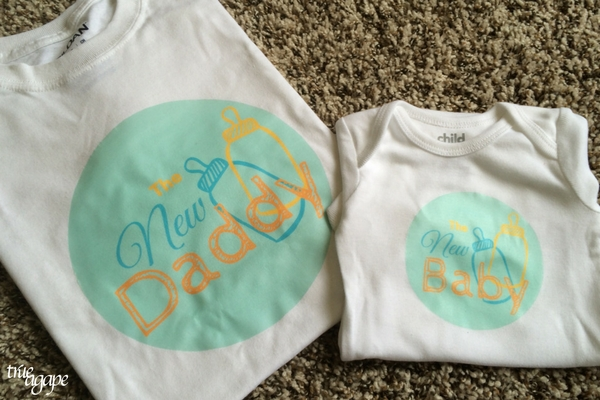 New Daddy Gift Basket Printables makes for an easy and meaningful gift for the new daddy. Matching daddy and baby iron on shirt templates.