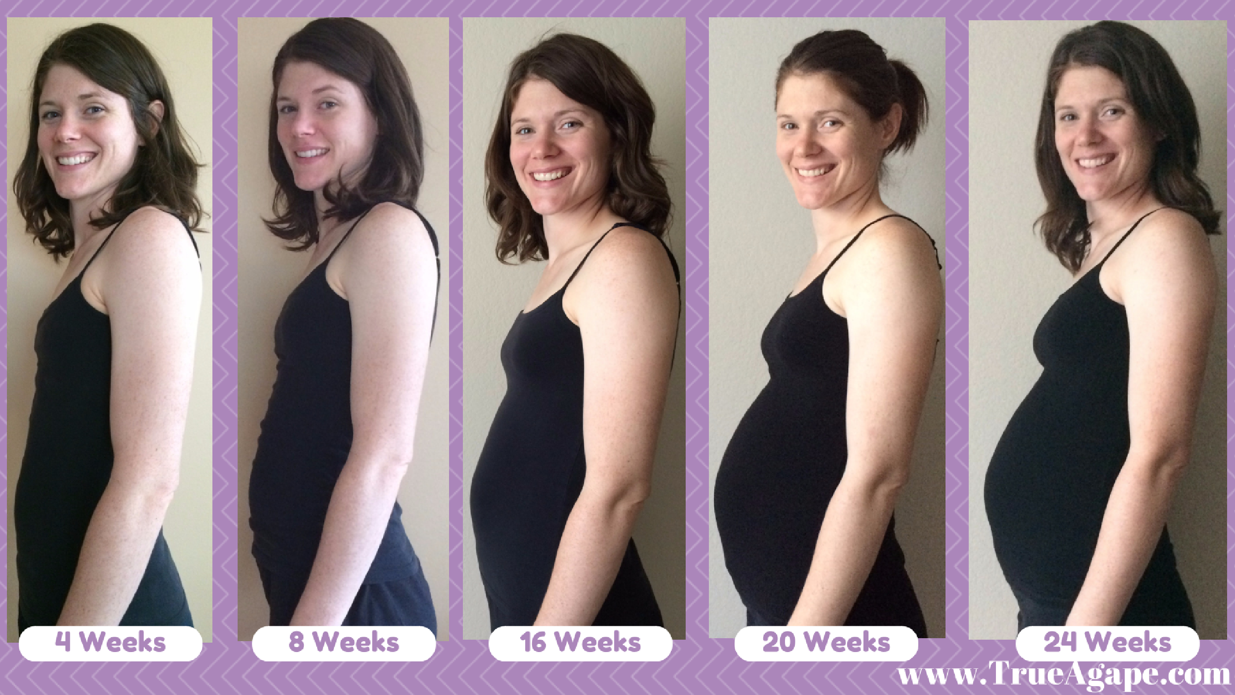 Month to month pregnancy bump pictures