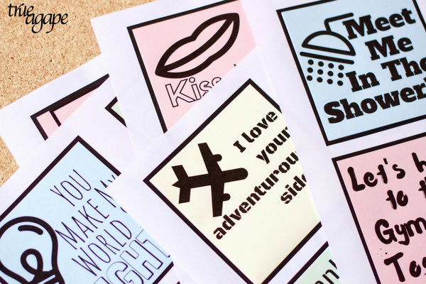 Printable sticky love notes are easy, quick ways to make your man feel loved!