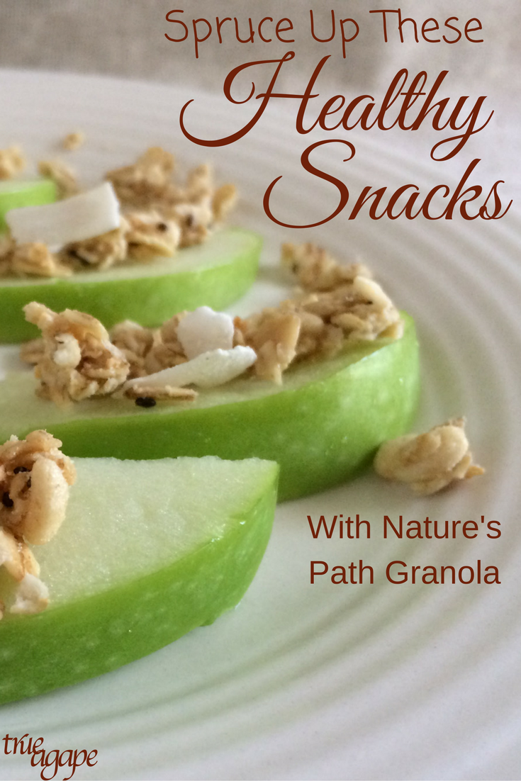 Nature's Path Granola is a great way to spruce up healthy snacks so you don't feel like your eating the same things.