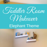 Elephant Theme Toddler Room Makeover