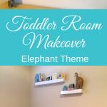 Elephant Theme Toddler Room Makeover