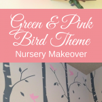 Green and Pink Bird Nursery Makeover