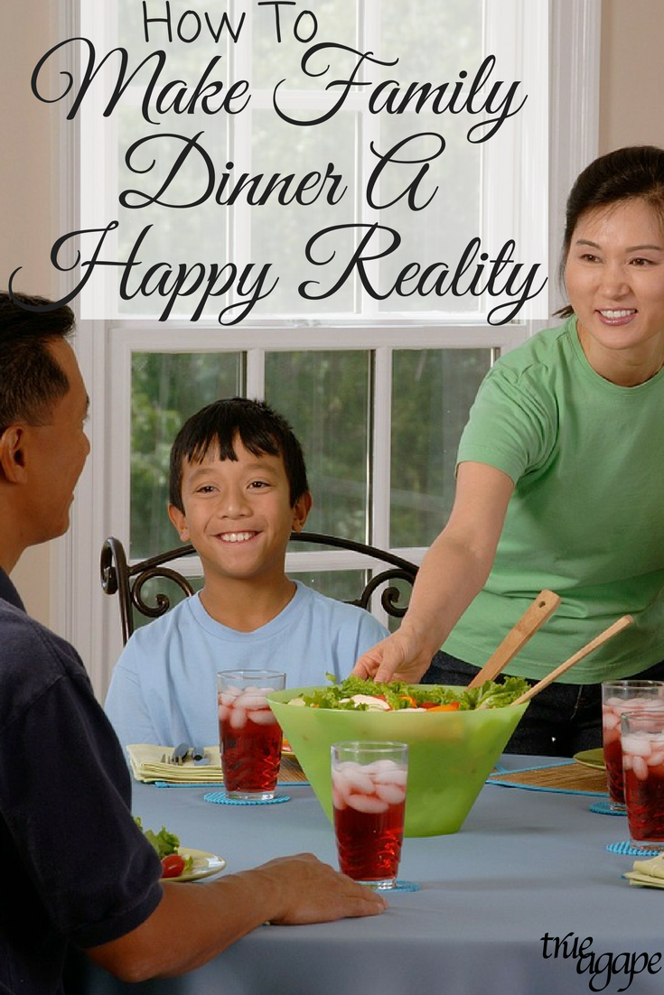 With busy schedules and trying to make things less stressful it is easy not to have family dinners. But these 6 tips will ensure family dinners are a happy reality!
