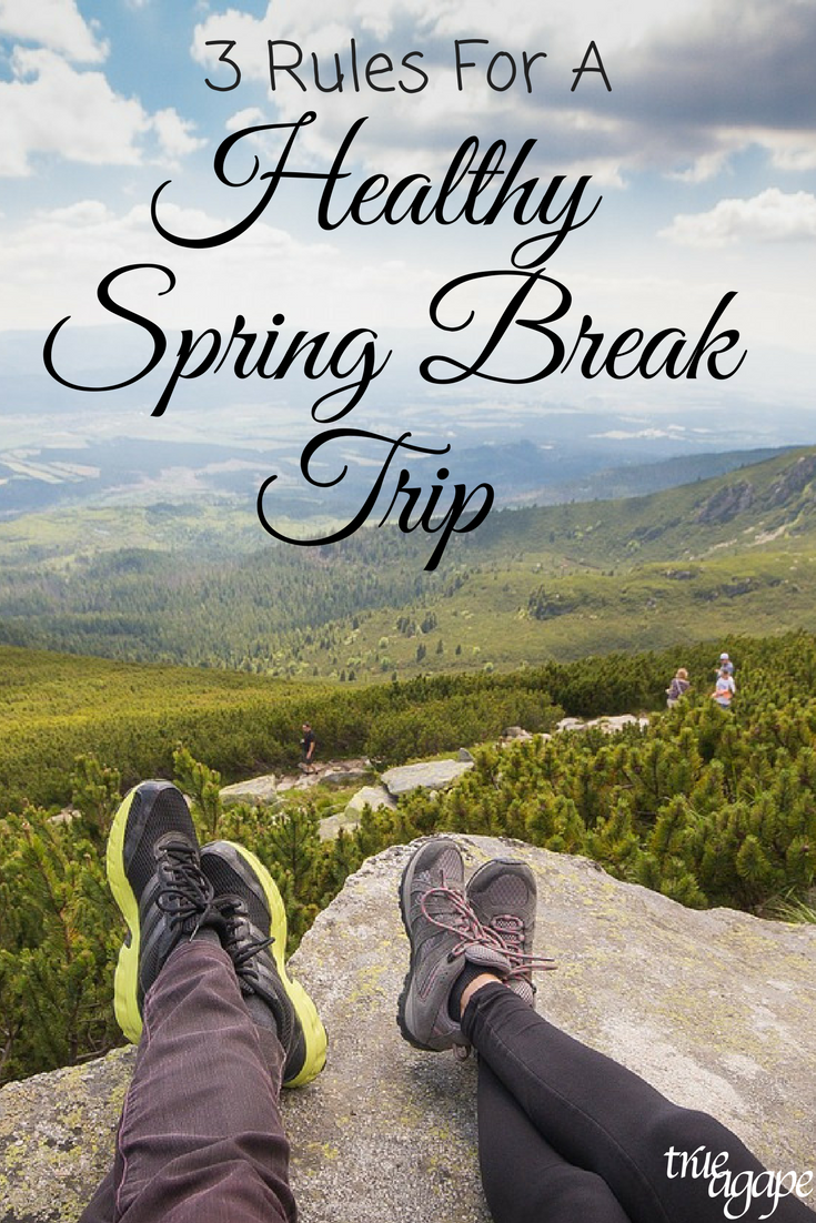 Your spring break trip doesn't mean you have to lose traction on all the health progress you have made the last few months! Here are 3 rules to keep those healthy choices going even on vacation.