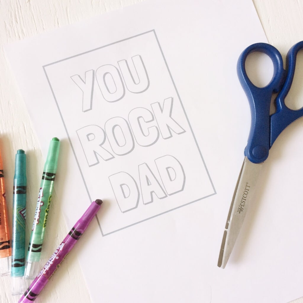 You Rock Dad craft that the little ones can get involved in. Great for Father's Day.
