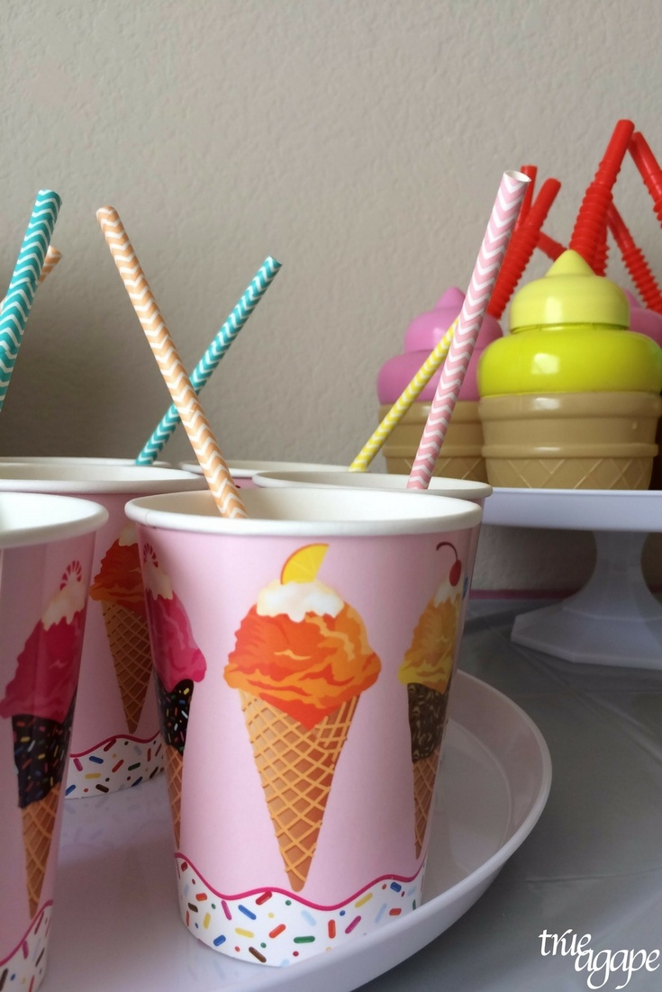 Who needs cake when you can have an ice cream party?! My toddler requested an ice cream party so that's what we did!